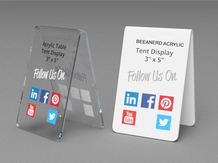 Acrylic Table Tent Display | BEEANERD